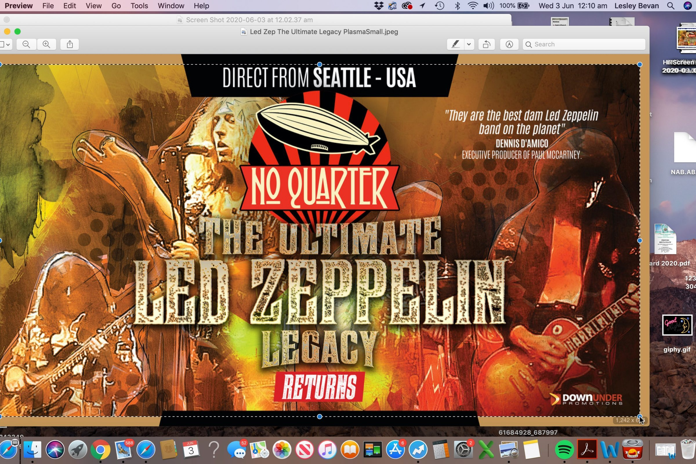 NO QUARTER, THE ULTIMATE LED ZEPPELIN LEGACY SHOW - DIRECT FROM THE USA